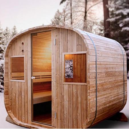 Sauna extérieur 6 places Barrel HOLL'S