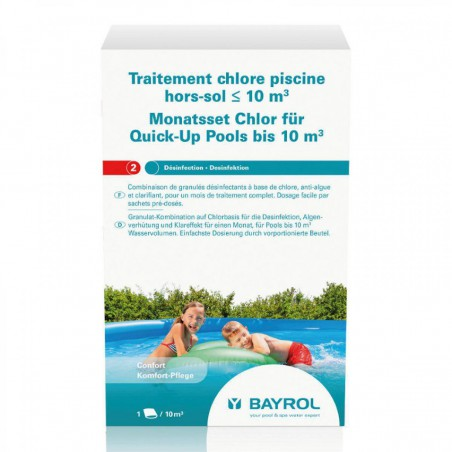 Traitement chlore Bayrol piscine hors-sol ≤ 10m³