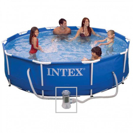 Piscine tubulaire Metal Frame Intex 3,05x0,76 m